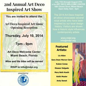 Artist Gary Dean Mercer Clark In 2nd Annual Art Deco Inspired Art Show